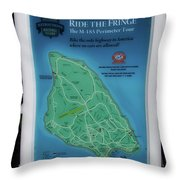 M 185 Ride The Fringe Signage Mackinac Island Michigan Vertical Throw Pillow