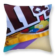 M And M Candy Throw Pillow