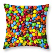 M And M Candy Real Chocolate Minis Throw Pillow