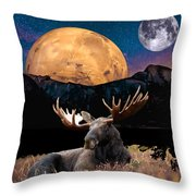 M Index Simple Collage Throw Pillow
