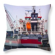 M/v Exeborg Throw Pillow
