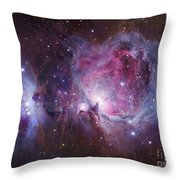 M42, The Orion Nebula Top, And Ngc Throw Pillow by Robert Gendler