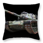 M48a2 Tank Throw Pillow