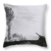 M65 Atomic Cannon Throw Pillow