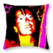 Ma Jaya Sati Bhagavati 10 Throw Pillow by Eikoni Images