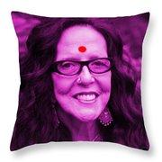 Ma Jaya Sati Bhagavati 12 Throw Pillow by Eikoni Images