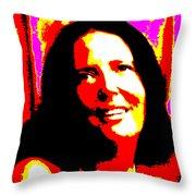 Ma Jaya Sati Bhagavati 14 Throw Pillow by Eikoni Images