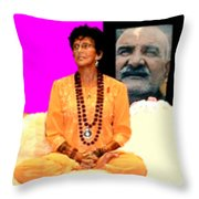 Ma Jaya Sati Bhagavati 15 Throw Pillow by Eikoni Images