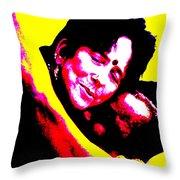 Ma Jaya Sati Bhagavati 17 Throw Pillow by Eikoni Images