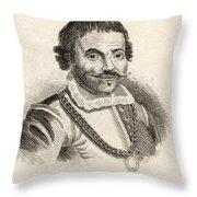 Maarten Harpertszoon Tromp 1598 - 1653 Throw Pillow