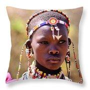 Maasai Beauty Throw Pillow