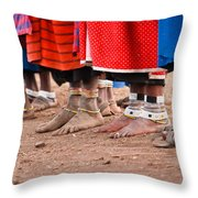 Maasai Feet Throw Pillow