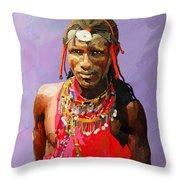 Maasai Moran Throw Pillow