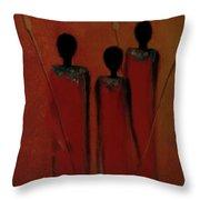 Maasai Trio  Throw Pillow