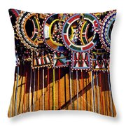 Maasai Wedding Necklaces Throw Pillow