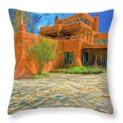 Mabel Dodge Luhan House As Oil Throw Pillow