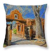 Mabel's Gate Throw Pillow