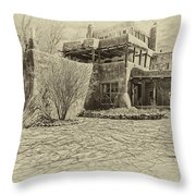 Mabel's House As Antique Print Throw Pillow