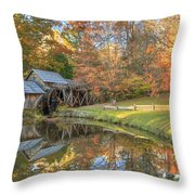 Mabry Mill. Blue Ridge Parkway Throw Pillow