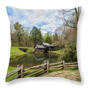 Mabry Mill In The Spring Throw Pillow