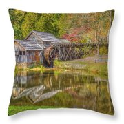 Mabry Mill Reflections Throw Pillow