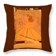 Macaron Lady II Throw Pillow
