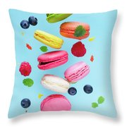 Falling In Love With Macaroons  Throw Pillow