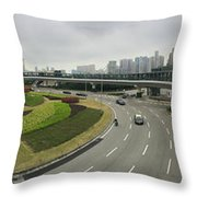 Macau Triptych 3 Throw Pillow