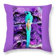 Macaw Fantasy Throw Pillow