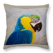 Macaw Head Throw Pillow