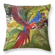 Macaw Parrot 3 Throw Pillow