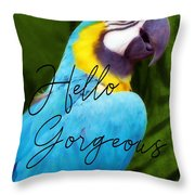 Macaw Quote Throw Pillow