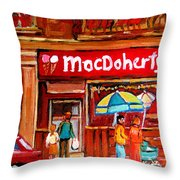 Macdohertys Icecream Parlor Throw Pillow