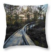 Macgregor Point Boardwalk Throw Pillow