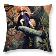 Macha The Irish Goddess Of War Throw Pillow