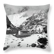 Machhapuchchhre Base Camp - The Himalayas Throw Pillow