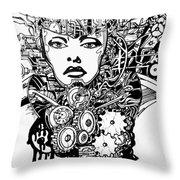 Machine 2 Throw Pillow