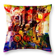 Machine Age-1 Throw Pillow