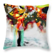 Machine And Me Throw Pillow