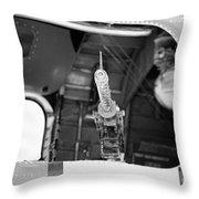 Machine Gun Wwii Aircraft Throw Pillow