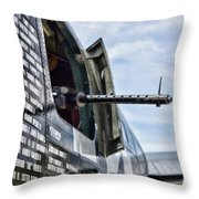 Machine Gun Wwii Aircraft Color Throw Pillow