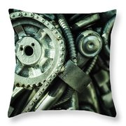 Machine Part Bnw Abstract II Throw Pillow