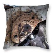 Machine Rust Hydraulic Ram Throw Pillow