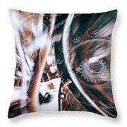 Machine Speed Warp In Blur Throw Pillow