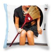 Machine Wash Housewife Throw Pillow