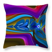 Machined Whorl Throw Pillow