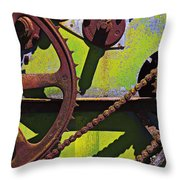 Machinery Gears  Throw Pillow by Garry Gay