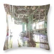 Machinery In A Factory Throw Pillow