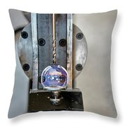 Machinists Drill With Precision Throw Pillow