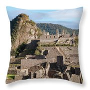 Machu Picchu City Archecture Throw Pillow